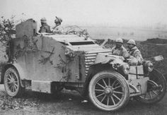 French WW1 Renault armored car.