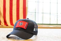 Tennessee vintage mesh cap with embroidered Tennessee flag patch - Civil Standard