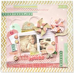 2 photos + rulers + washi tape + tags