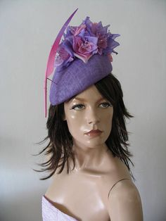 Lilac Baby Candy Pink Beret Headpiece Soph Silk