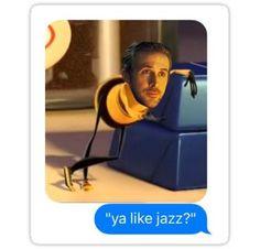 ya like jazz? la la land bee movie sticker Sticker