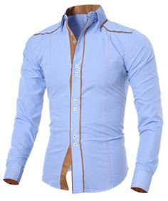 Cheap shirt cutout, Buy Quality brand name shirt directly from China brand fragrance Suppliers: Men Shirt 2016 Fashion Brand Men'S Double Button Male Long-Sleeved Shirt Camisa Masculina Casual Slim Chemise Homme XXL Smart Casual Shirts, Stylish Shirts, Long Sleeve Shirt Dress, Long Sleeve Shirts, Dress Shirts, Fashion Brand, Mens Fashion, Style Fashion, Fashion Site