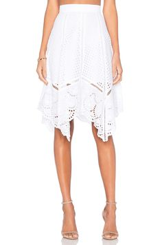 Lucy Paris x REVOLVE Crochet Skirt in White Handkerchief