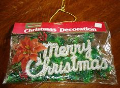 VTG PLASTIC GLITTERED MERRY CHRISTMAS SIGN - CHINA - WOOLWORTH'S | eBay