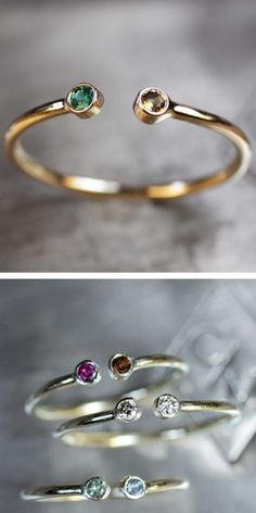 Duo Birthstone Ring - Cute For You & Your Loved One ♥