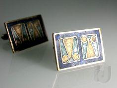 J0024 Emaille Manschettenknöpfe Enamel Cufflinks PERLI Schwäbisch Gmünd ~ 1960 Vintage Cufflinks, Coasters, Ebay, Enamel, Coaster