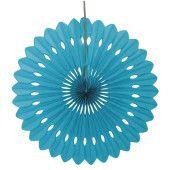 Caribbean Teal Decorative Honeycomb Fan