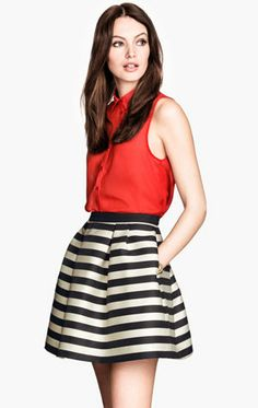 Meilaier Womens Fashion Black and White Striped Skirt Black Women Fashion, Latest Fashion For Women, Womens Fashion, Fashion Jobs, Fashion Outfits, Style Désinvolte Chic, Kinds Of Clothes, Latest Street Fashion, Stripe Skirt