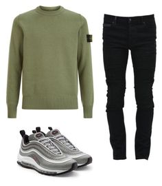 """""""Untitled #378"""" by aintdatjulian on Polyvore featuring STONE ISLAND, Marcelo Burlon, NIKE, men's fashion and menswear"""