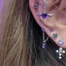No Piercing Pair Helix Ear Cuffs/Criss Cross & Double Line Ear Jacket/piercing imitation/twisted hoops rings/ X rings cartilage ear cuff - Custom Jewelry Ideas Ear Jewelry, Cute Jewelry, Body Jewelry, Jewelry Accessories, Bijoux Piercing Septum, Cartilage Piercings, Body Peircings, Lip Piercing Ring, Ear Piercings Chart