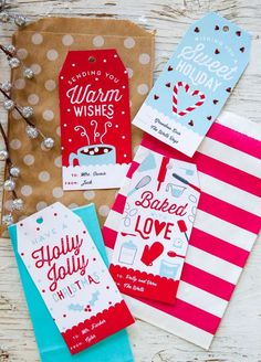Free Personalized Holiday Gift Tags. This printable template is perfect for teacher and kids gift ideas! Simple, editable, and fun.#gifttags #Christmas