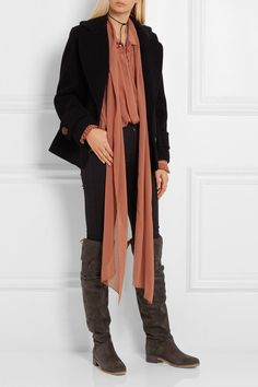 See by Chloé | Suede over-the-knee boots | NET-A-PORTER.COM