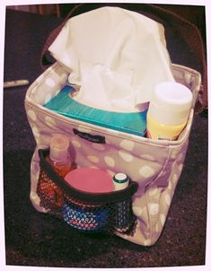 Perfect companion for cold and flu season!  Thirty-One's Littles Carry-All Caddy with all the essentials for cold and flu.  :(