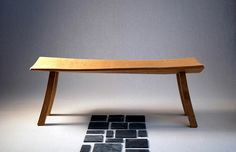 Cleft Oak Bench by Adrian McCurdy.