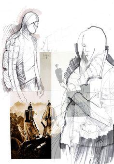 Fashion Sketchbook - fashion design research; fashion drawings; fashion portfolio // Mirjam Maeots