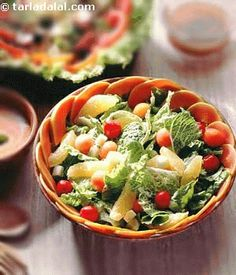 There couldn't possibly be a better choice than a cream dressing to accompany this delicious salad.
