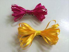 DIY Ribbon Bow Hair Clips - Createsie