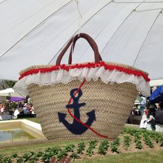 Just finished this anchor beach straw bag! Soon in my Etsy shop!