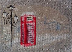 Romantic and unique: red phone box with snow. Design by Kseniya Adonyeva. Work and picture by Oxana Chudakova.