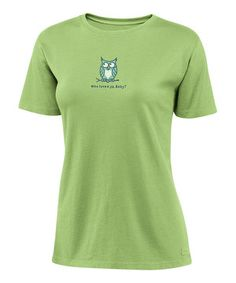 The ultimate closet staple, this cotton Crusher tee sports a signature soft finish that's made to fade for a hip vintage look. Durable and flattering, it features a cheerful Life is good® graphic and a slightly tapered waist for a feminine touch.