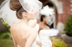 Wedding Veil  Classy Bubble Veil by FascinatingCreations on Etsy,