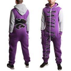 Kansas State Wildcats Zoopless Full-Zip Adult Jumpsuit - Purple - $149.99