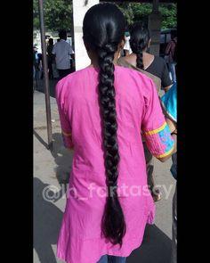 Indian Long Hair Braid, Super Long Hair, Braids For Long Hair, Braided Hairstyles, Long Hair Styles, Beauty, Long Hairstyle, Braid Hair, Long Haircuts