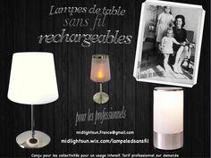 MIDLIGHTSUN Lampes de table sans fil rechargeables Home