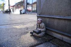 Miniature Sculptures in City