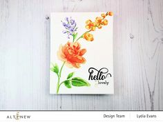 Card Blog - 2 Simple Ways To Add Interest To Floral Stencils Scrapbook Blog, Have A Beautiful Day, Altenew, Large Flowers, Daffodils, Simple Way, Stencils, Bouquet, Bloom