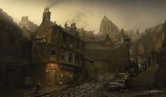 Old Slums An environment design inspired old century photos of Britain George Johnstone