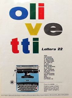 olivetti typewritter