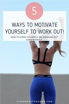 Have you tried and failed to motivate yourself to work out regularly? I share 5 simple steps on how to motivate yourself to workout today!
