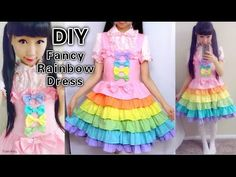 DIY Rainbow Dress: Sewing a Fancy Lolita Dress With me from Scratch - YouTube