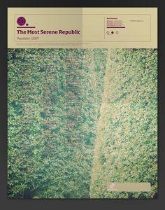 The Most Serene Republic. The Visual Mixtape by Noa Emberson, via Behance, $19.99