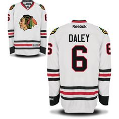 Get this Chicago Blackhawks Trevor Daley White Premier Jersey w/ Authentic Lettering at ChicagoTeamStore.com