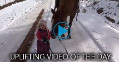 This truly might be the cutest video you will see all day.  Two-year-old Emma is tasked with walking the family horse, Cinnamon, back to the house -- and she's more than happy to do so.You'll love this adorable duo as they slowly traverse through a snowy scene.
