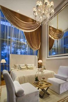 Image via We Heart It https://weheartit.com/entry/162200355 #architecture #beautiful #bed #bedroom #beige #big #classy #decor #design #Dream #fancy #glamour #home #house #indoor #interior #lovely #luxurious #luxury #mansion #master #rich #room #villa #vintage #white #window