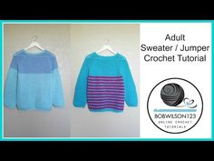 Adult Crochet Sweater Part 1 of 3 - YouTube