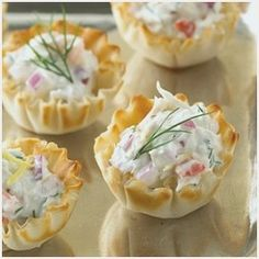 Mini Crab Pastry Tartlets