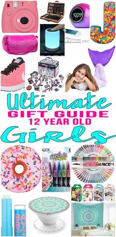 BEST Gifts 12 Year Old Girls! Top gift ideas that 12 yr old girls will love! Find presents & gift suggestions for a girls 12th birthday, Christmas or just because. Cool gifts for tween girls on their twelfth bday. Wondering what to a 12 year old for her birthday? We have you covered - from makeup to electronics to sports & more - find the best gift ideas! Amazing products for daughters, grandkid, niece, best friend. Shop Now - Tween, teen, pre teen, teenage gifts!