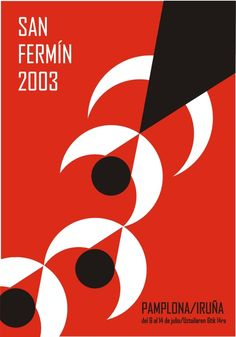 San Fermín 2003 2 Art Deco Posters, Vintage Posters, San Fermin Pamplona, Map Of Spain, Music Collage, Bilbao, Design Quotes, Minimal Design, Creative Writing