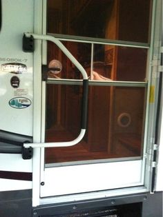 Learn To RV: Quick tip- baby proof screen door. I had to pin this because I have been wondering what to do about the screen door for a while now and when I saw this I couldn't believe I didn't think I this on my own!
