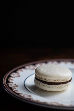 Dark Chocolate Ganache Recipe, Chocolate Cream, Afternoon Tea Cakes, Blanched Almond Flour, Creamed Honey, Thing 1, Almond Recipes, Macarons, A Food
