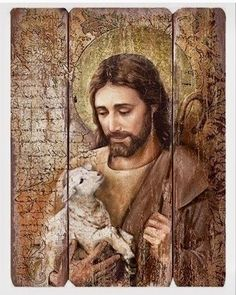 Jesus The Good Shepherd Wall Panel God and Jesus Christ Catholic Art, Religious Art, Religious Gifts, Jesus Face, Decorative Wall Panels, Prophetic Art, The Good Shepherd, Prayer Room, Jesus Pictures