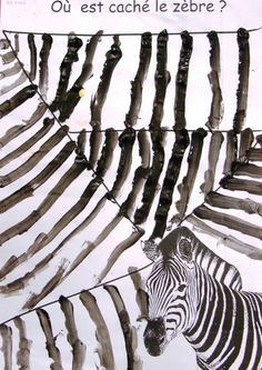 a great background for our zebra's made from a footprint.