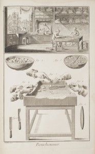 Documenting the Humbler Trades: Cork Maker. Diderot's conception of the mechanical arts as a category of useful knowledge just as valuable as the liberal arts and sciences was a provocative challenge to long-standing prejudices against manual labor. | MIT Libraries Exhibits