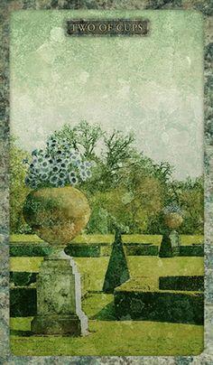 Two of Cups - Tyldwick Tarot by Neil Lovell