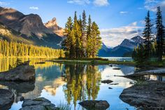 Located deep in the wilderness of Jasper National Park, Spirit Island is one of the most famous landmarks in the Canadian Rockies.