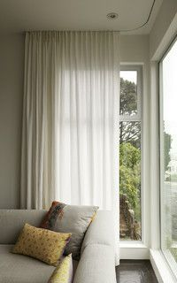 Modern curtains on recessed track - modern - window treatments - san francisco - by Stitch Custom Furnishings